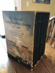 The Diary Of George Templeton Strong Nevins 4 Volume Box Set 1952 First Printing
