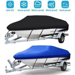 Heavy Duty Waterproof Trailerable Boat Cover Full Size Fit V-hull Fish Bass Boat