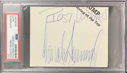 Donald Trump Signed Cut President Vintage Auto You're Fired Best Wishes Psa/dna