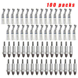 100set Nsk Style Dental Slow Low Speed Handpiece Contra Angle +air Motor 4h Hb-j