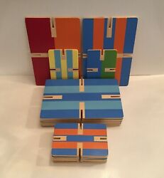 Pottery Barn Kids Wooden Creativity Cards Construction Stacking Learning Toys