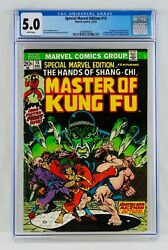 Master Of Kung Fu 15 Cgc 5.0 White Pages First Shang-chi Appearance 1st App Mcu