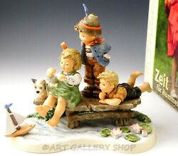 Hummel Figurine Moments In Time 8.5 Large 2290 Sailing Lesson Limited Ed. Box