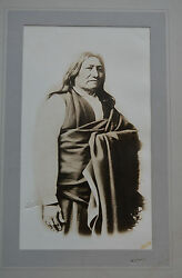 Scarce Chief Spotted Tail Photo Sioux Indian Df Barry Rare Large 10x14 Native