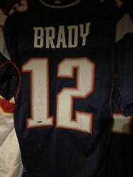 Tom Brady Autographed New England Jersey With Steiner Coa W/out Paperwork