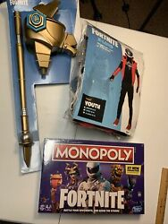 Fortnite Bundle Llama Sc3pt3r Pickaxe X-lord Costume And Monopoly Sealed