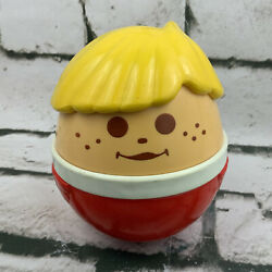 """Vintage Jumbo Little Tikes Toddle Tots Weeble Wobble 5"""" Chime Ball"""