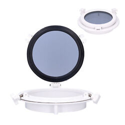 10in Round Portlight Porthole Tempered Glass Opening Window For Marine Boat Rv