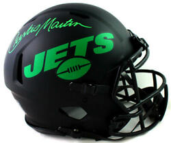 Curtis Martin Signed Ny Jets F/s Eclipse Speed Authentic Helmet- Psa Auth Green