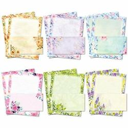 Stationary Writing Paper With Envelopes Flora Stationery Set With Lined Letter