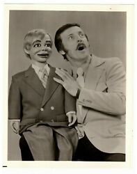 Ventriloquist Paul Winchell And His Dummy Jerry Mahoney Vintage Photo 8 X 10