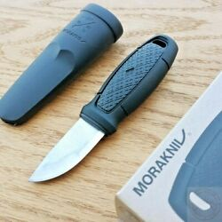 Mora Eldris Fixed Knife 2.5 12c27 Stainless Blade Black Two Polymer Handle
