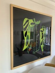 Jonas Wood Clipping Edition Of 100 Framed - Shipping In Us
