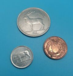 Ireland 1998 1 Punt Coin + 1p And 5p