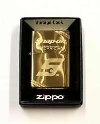 New Snap On Tools Collectible Zippo Vintage High Polished Brass Htf