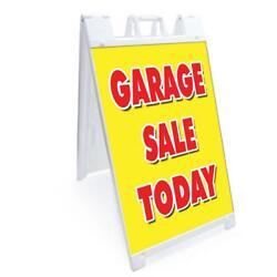 A-frame Garage Sale Today Sign Double Sided Graphics   Heavy Duty