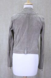 Andrew Marc Pebble Beige Soft Suede Scuba Jacket Size Small Nwt Womens 395