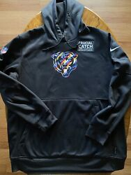 Nike Nfl Chicago Bears Crucial Catch Sideline Performance Pullover Hoodie Men Xl