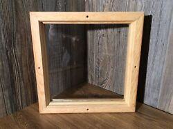 Window For Entry Door Install Wood Oak Frame For Any Small Window Project J9