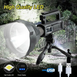 200000lm Xhp50 Led Flashlight Work Light Usb Rechargeable Searchlight 4 Modes A
