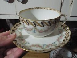Theodore Haviland Limoge France China Cup And Matching Saucer 1