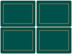 Pimpernel Placemats, Classic Emerald, Set Of 4 2010648044