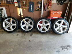 Andnbspa Set Of Four Gm Accessory Wheels With Center Caps And Tires Like New