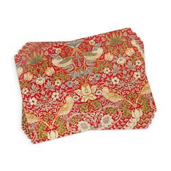 Pimpernel Placemats, Strawberry Thief Red, Set Of 4 2010648718