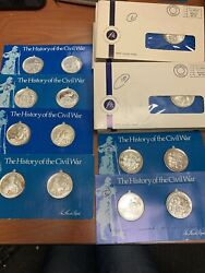 Lincoln Mint The History Of The Civil War .999 Fine Silver Bullions 40 Coins