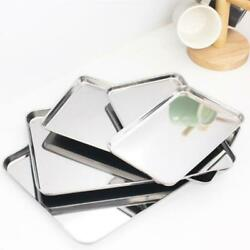 Roasting Oven Pan Dish Stainless Steel For Baking Tray Grill Deep Tin Trays Set