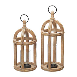 Home Decorators Collection Candle Holder Antiqued Wood Candle Hanging Tabletop
