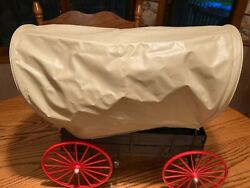 Johnny West Covered Wagon, Food Trunk, Whip And Harness