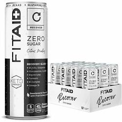 Fitaid Zero Recovery No Artificial Flavor Sweetener Keto Bcaa Tumeric 12 Pack