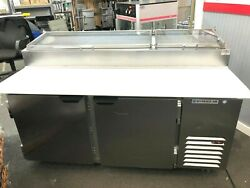 Beverage-air Dp67hc-cl 67 2 Door Clear Lid Refrigerated Pizza Prep Table