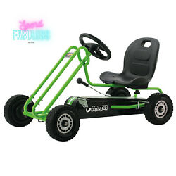 Hauck Lightning Pedal Go Kart With Adjustable Bucket Seat Kids Ride-on Toy Green