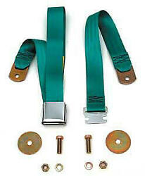 1955-1957 Chevy Seat Belt Rear Turquoise 57-135608-1