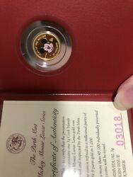 1996 Cook Islands Mickey Mouse 3g Proof Gold Coin, Don't Ask Any Discount