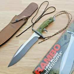 Rambo Last Blood Fixed Knife 9 Stainless Steel Full Tang Blade Micarta Handle