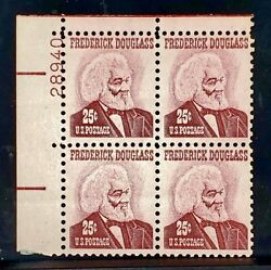 1965 Us Plate Block Stamps 1290 Untagged Mnh Mint Frederick Douglass No Tagging