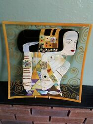 Mdina Fused Glass Work. Mdina Fused Glass Charger. Based On Emotion By Gustav...