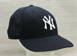 New Era 59fifty 5950 Ny Yankee Fitted Hat Cap 7 1/2 Large Yankee Patch 100 Wool