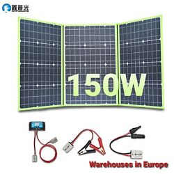 Solar Panel Kit 150w 12v Foldable Portable System For Home Rv Car Boat Camping
