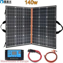 Solar Panel Kit 140w Foldable Portable Charger For Powerbank 12v Battery