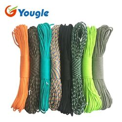 Paracord 550 Rope Parachute Cord 100ft Lanyard Tent Line Spec Type Iii 7 Strand