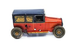 Vintage Rare Old Collectible Antique Tin Toy Car. The Car Is Made In Germany