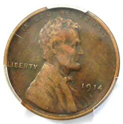 1914-d Lincoln Wheat Cent 1c - Certified Pcgs Xf Details - Rare Key Date Penny