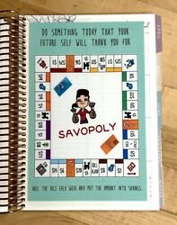 Savopoly Money Savings Dashboard Insert 4 Use With Erincondren A5 Coil Spiral