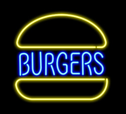 Burgers Store Open Beer Bar Home Room Pub Club Vintage Neon Light Sign Gift