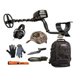 Garrett At Gold Metal Detector With Digger Gloves Cap Backpack And Pinpointer