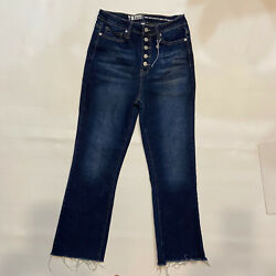Ymi Vintage Dream High Rise Ankle Flare Dream Fit Raw Hem Button Fly Jeans 9/29